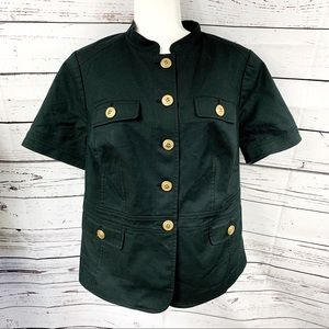 Fashion Bug Jackets & Coats - Fashion Bug Black Military Short Sleeve Jacket